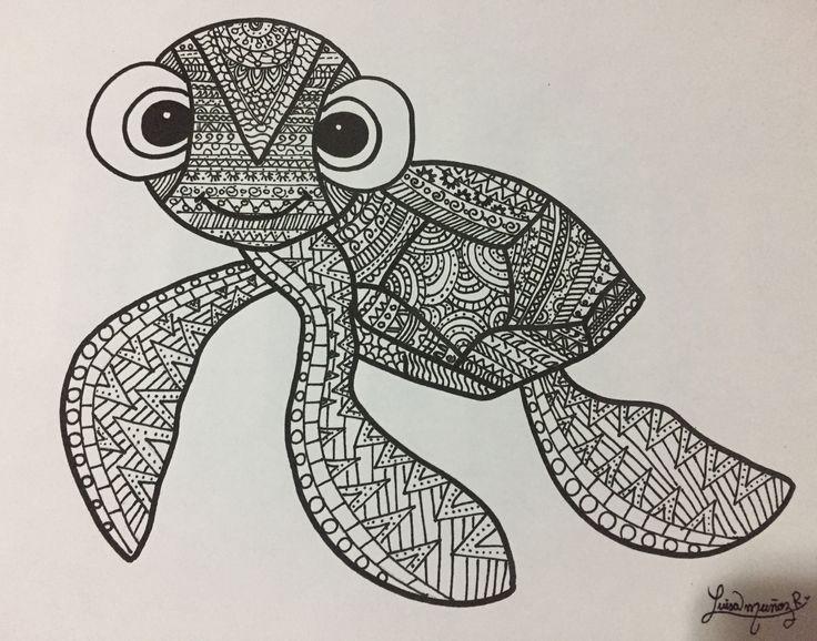 Black and white turtle - Luisamr