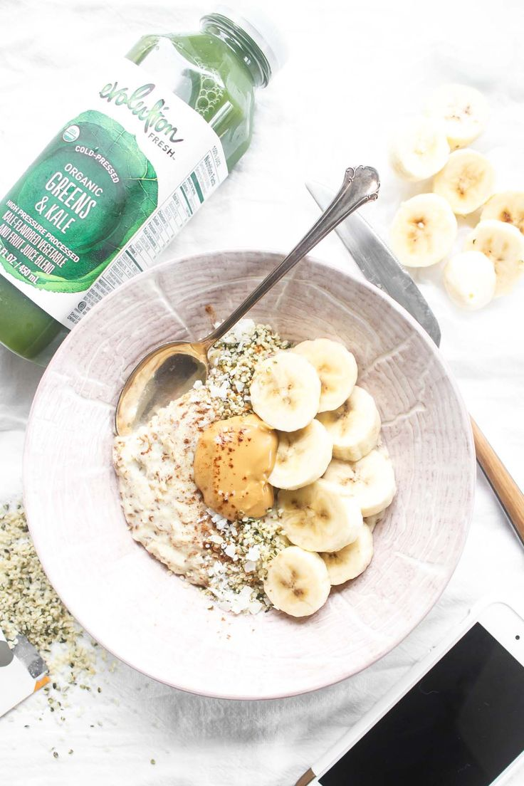 My perfect morning includes Paleo Oatmeal + Green Juice! Hop on over to get inspired with fun topping ideas! This recipe is ready in just minutes!