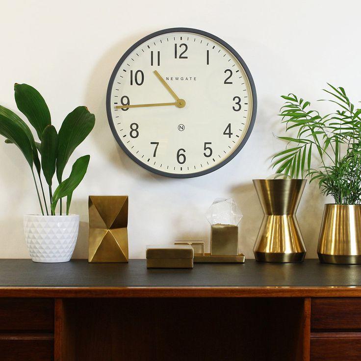Buy Newgate Clocks Mr Edwards Wall Clock - Matt Blizzard Grey | Amara