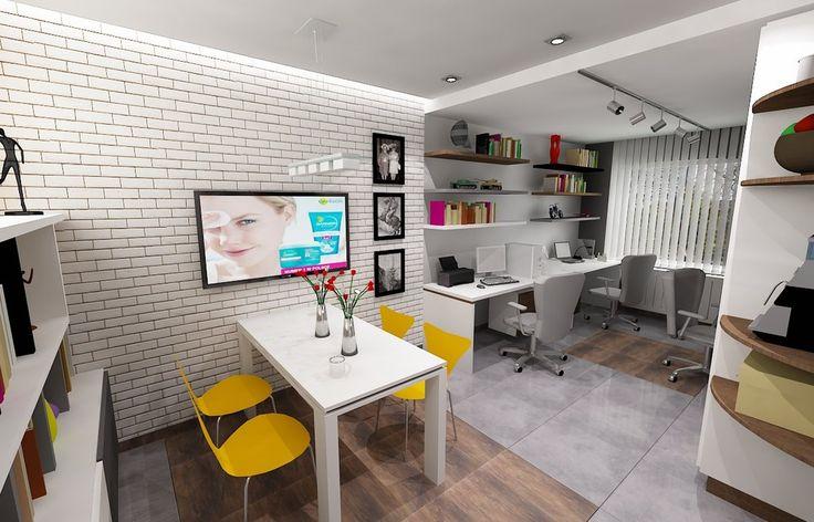 Projekt wnętrz biura dla różnego typu pracowni, biur księgowych czy administracyjnych. #biuro #pracownia #projekty #projektowanie #architektura #architekt #łódź