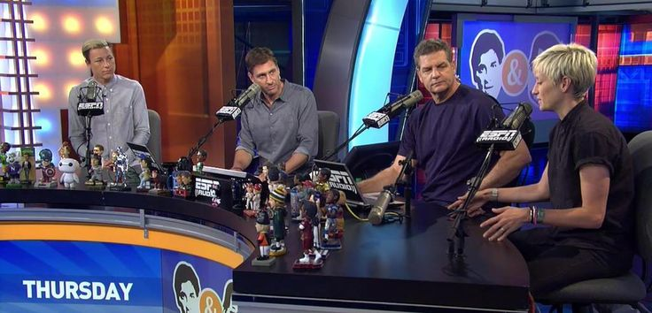 Abby & Megan at ESPN on Mike & Mike (July 9, 2015)