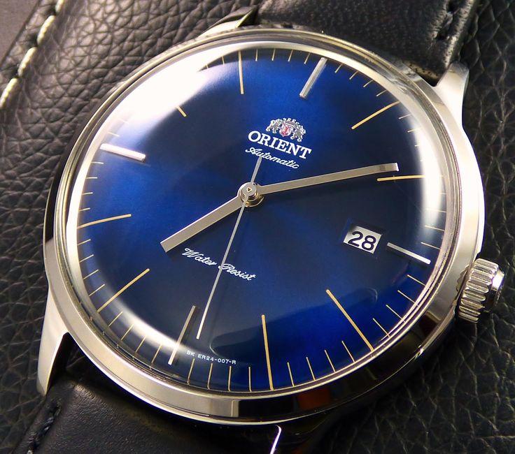 Orient Bambino Version 3 Mens FER2400LD0 Watch Review Case