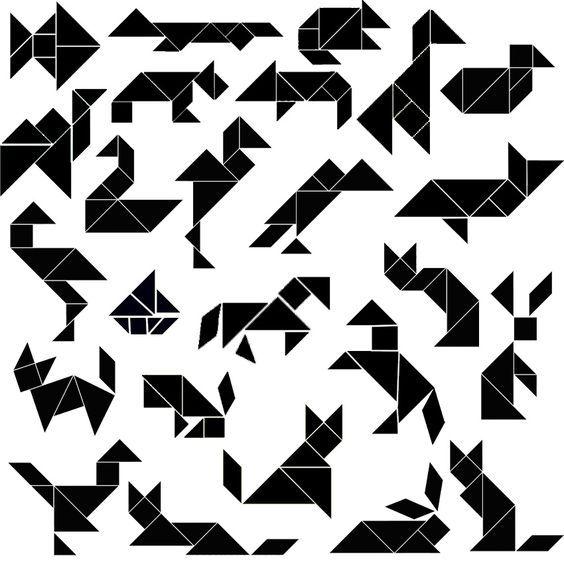 11 besten tangram projekt bilder auf pinterest  vorschule