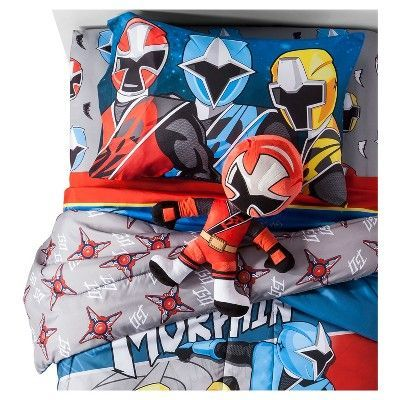 """Power Rangers Red Throw Pillow (24""""x6"""")"""