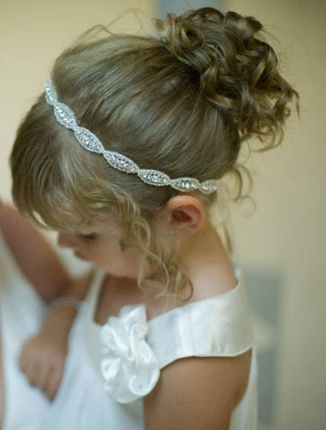 Love The Simplicity Of This #Flowergirl #Wedding #Hairstyle for a warm #Summers Day x