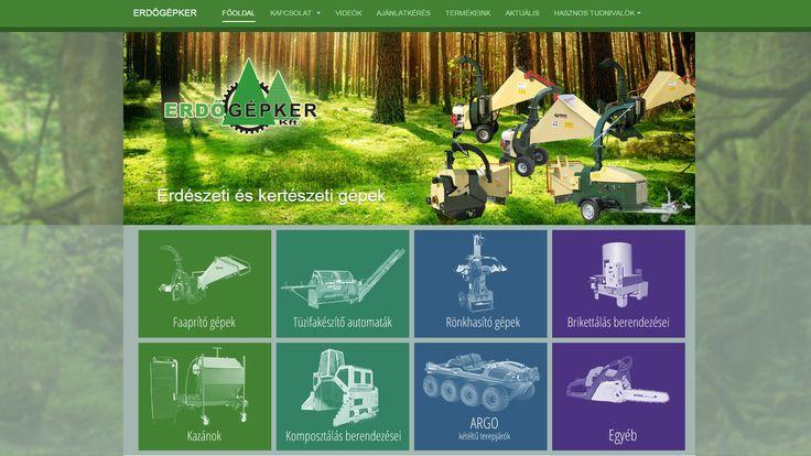Erdőgép - weboldala