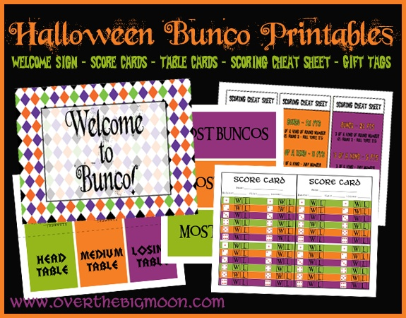 FREE Halloween Bunco Printables!!