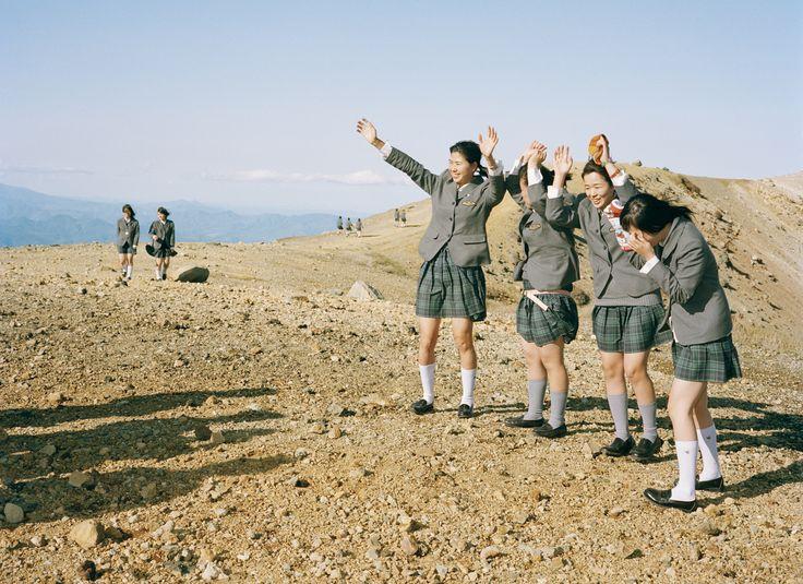 School uniforms from around the world: Mt. Azumakofuji, Fukushima, Japan, 2010. Photograph by Andri Pol.