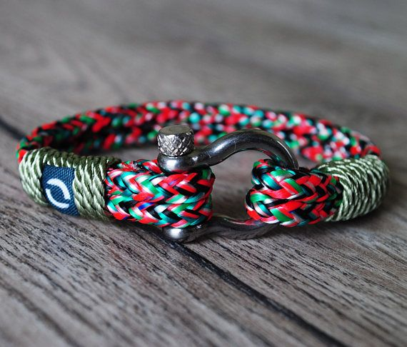 Summer Bracelet Green Mens Bracelet Red Mens Bracelet
