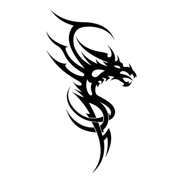 dragon+tribal+tattoos | Tribal tattoo designs – black dragon tattoo , tribal tattoo