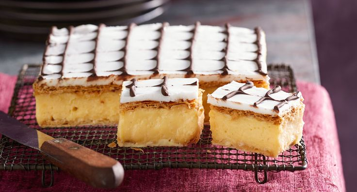 Perfectly traditional vanilla slice