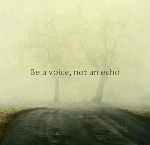 When will you finally let your voice be heard?