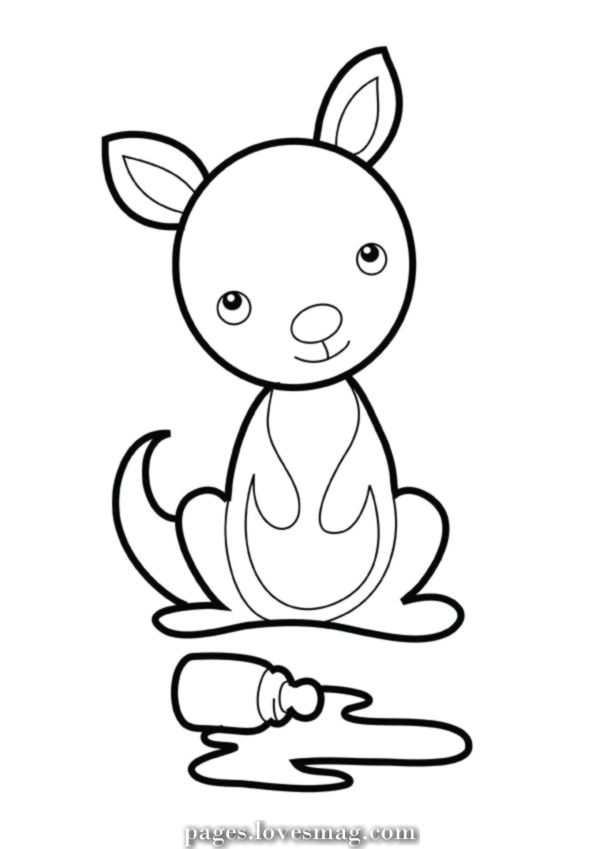 Luxurious Cute Child Kangaroo Coloring Pages Baby Coloring Pages Coloring Pages Animal Coloring Pages