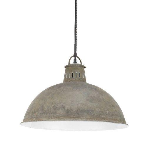 Metalen industriële PARK AVENUE hanglamp met verweerd effect D 48 cm