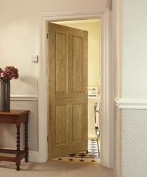 Victorian 4 panel oak internal door - doors wood & painted frame