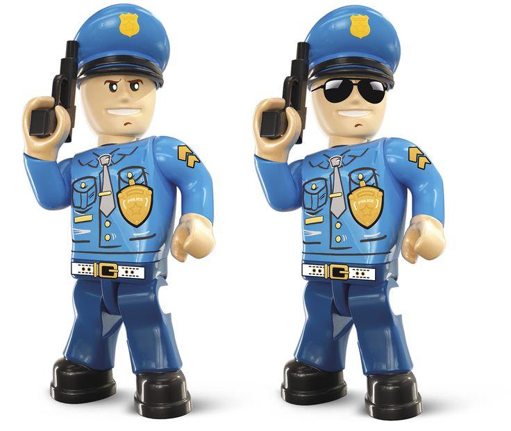 Postrach złoczyńców, ulubieniec społeczeństwa - czyli policjant w akcji. Policjanci w Action Town to ekipa zawodowców, którzy z determinacją i zaangażowaniem rozwiązują nawet najbardziej zawiłe zagadki. Nie przeoczą żadnych śladów, nie wypuszczą żadnego złoczyńcy. Zobacz jak działają i jaki sprzęt posiadają wprost od firmy Cobi https://pl.pinterest.com/cobitoys/co-i-gdzie-mo%C5%BCesz-znale%C5%BA%C4%87-w-action-town/