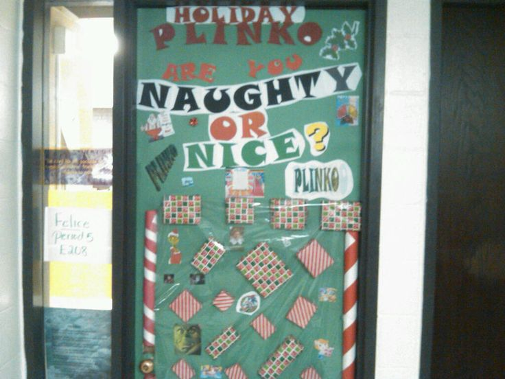 Naughty Or Nice Plinko Interactive Christmas Door Door