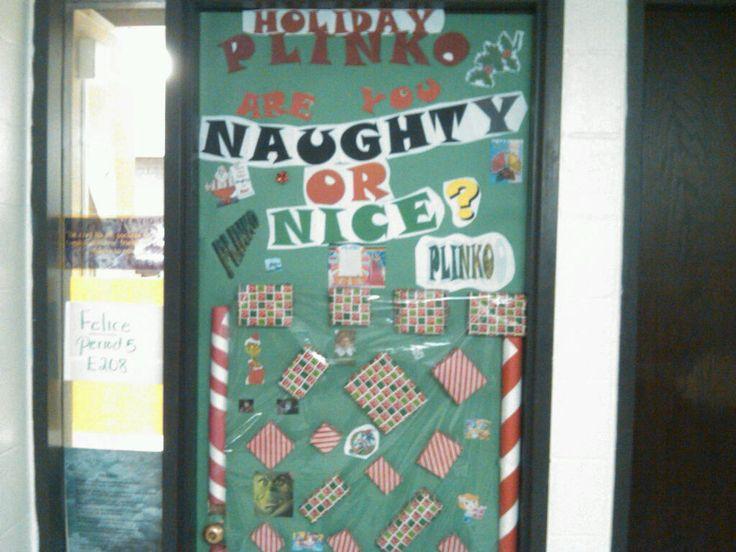 Naughty Or Nice Plinko Interactive Christmas Door Door