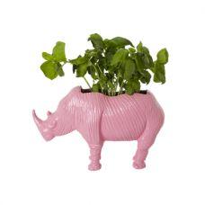 Pink Rhino Plant Pot in Medium By Rice