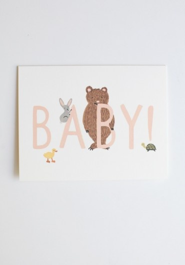 Baby announcements from Rifle: Babies, Rifles Paper Co, Cute Cards, Baby Cards, Baby Announcements, Rifle Paper Co, Forests Friends, Baby Shower Cards, Friends Baby