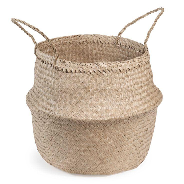 Panier thaïlandais en fibre végétale H 47 cm