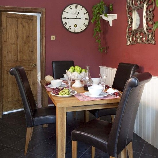 Red dining room | Dining room paint colours