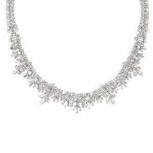 LOT:282   GARRARD - a diamond necklace.