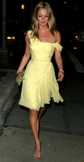 Kate Moss- yellow- color for spring '13