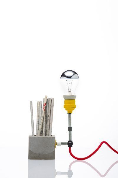 Concrete Small Desk Lamp – CROWDYHOUSE #DeskLamp
