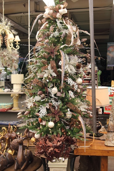 Beautiful Trees 2 -- White/Pink (beige?) small Christmas tree