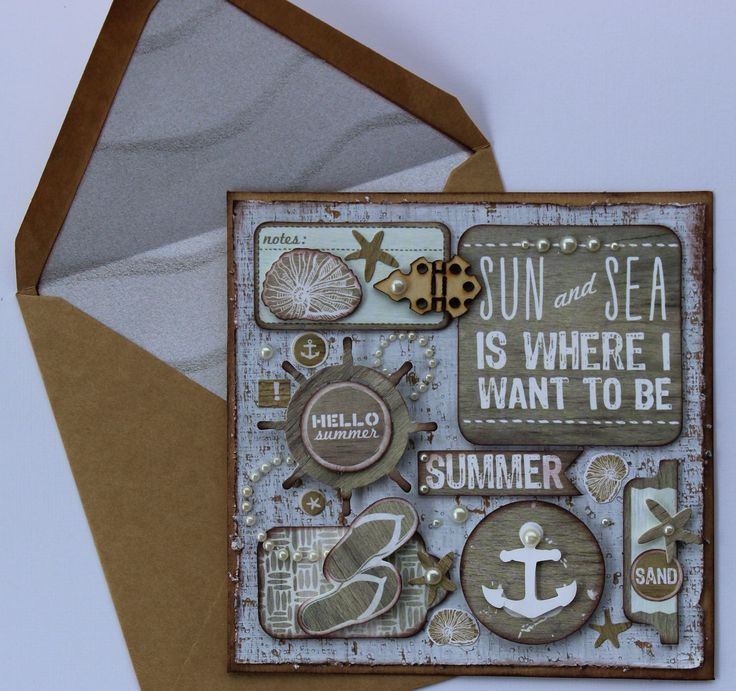 Sandy Toes - card by Alison Bevis for Kaisercraft - Cards 1..
