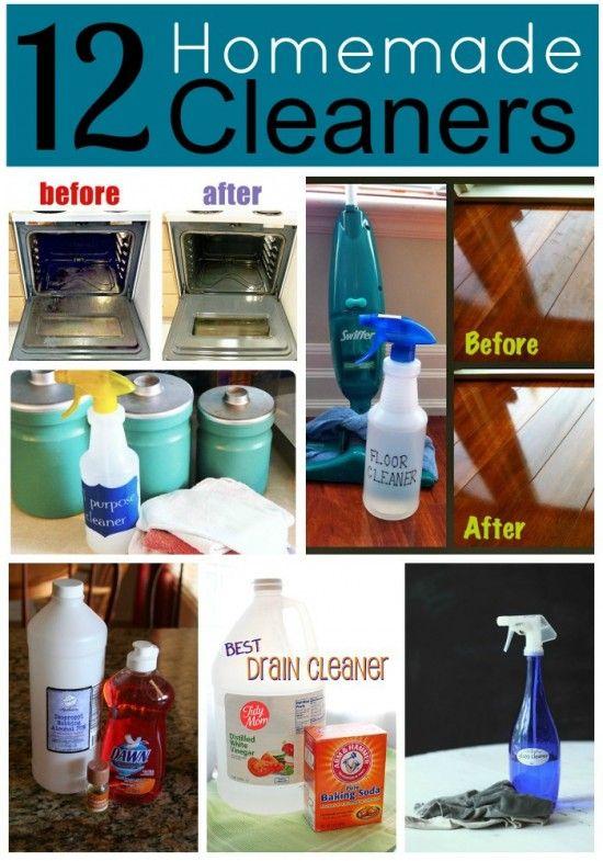 12 Homemade Cleaners   MyBlessedLife.net