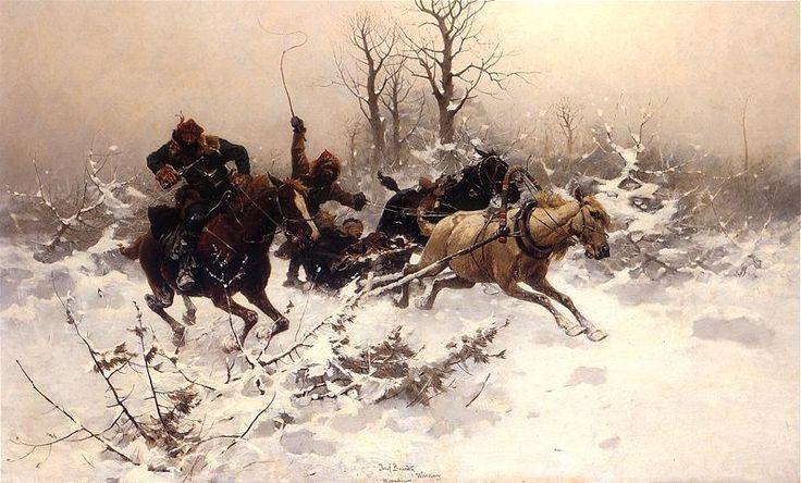 jozef brandt   Escape in Winter by Józef Brandt   Res Publica