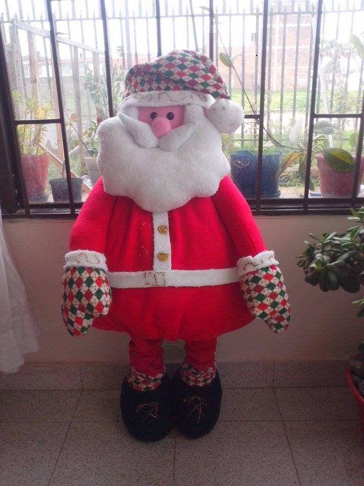 Papa Noel Gigante moldes em https://sites.google.com/site/rincondedamary/navidad/papa-noel-gigante