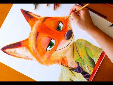 HOW TO DRAW Nick Wilde (Zootopia) - 10 quick sketches - Speed drawing - YouTube