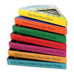 a empresa de pizza gourmet chocolate leche belga choc presente rebanada de sabor de regalo