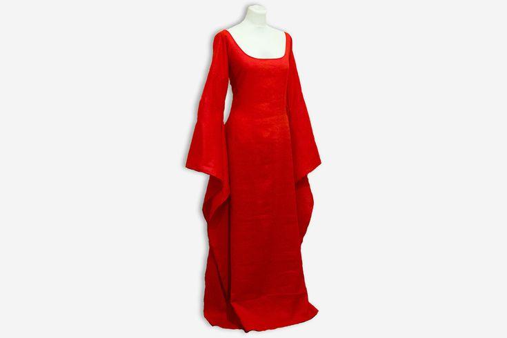 Melisandre dress Game of Thrones halloween costume Melisandre cosplay wedding dress handfasting celtic wedding red priestess dress