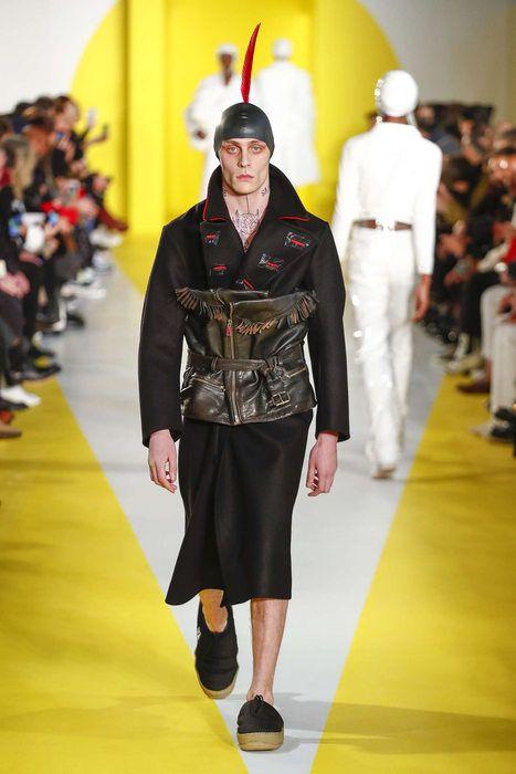 Maison Margiela, Осень/Зима 2018, Париж, Menswear ,look 28 ; Model : Rinat Mersiaitov