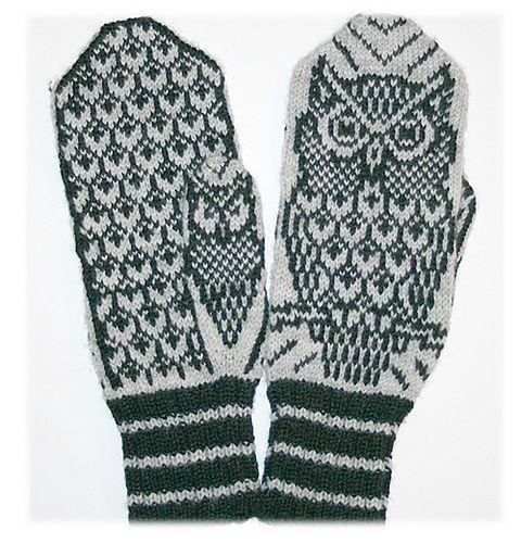 Ravelry: Night Owl mittens pattern by Jorid Linvik