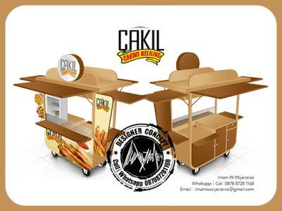 Desain dan Produksi Gerobak: Desain Gerobak Cakwe Keliling Cakil
