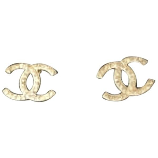 Pre-owned Chanel Studs (€440) ❤ liked on Polyvore featuring jewelry, earrings, accessories, none, flower earrings, flower stud earrings, stud earrings, preowned jewelry and chanel jewellery