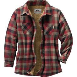 Finally, one of our popular soft cozy shirt jacs for the ladies! The plaid is 100% cotton that's lined with the softest poly fleece you have ever felt. Features quilted, satin lined sleeves and side seam pockets. The perfect layering piece when a jacket is too much.