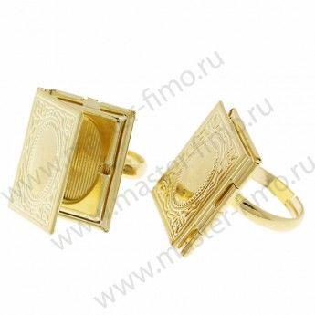 Основа для кольца с рамкой для фото Gold Plated 19 х 23 мм ...