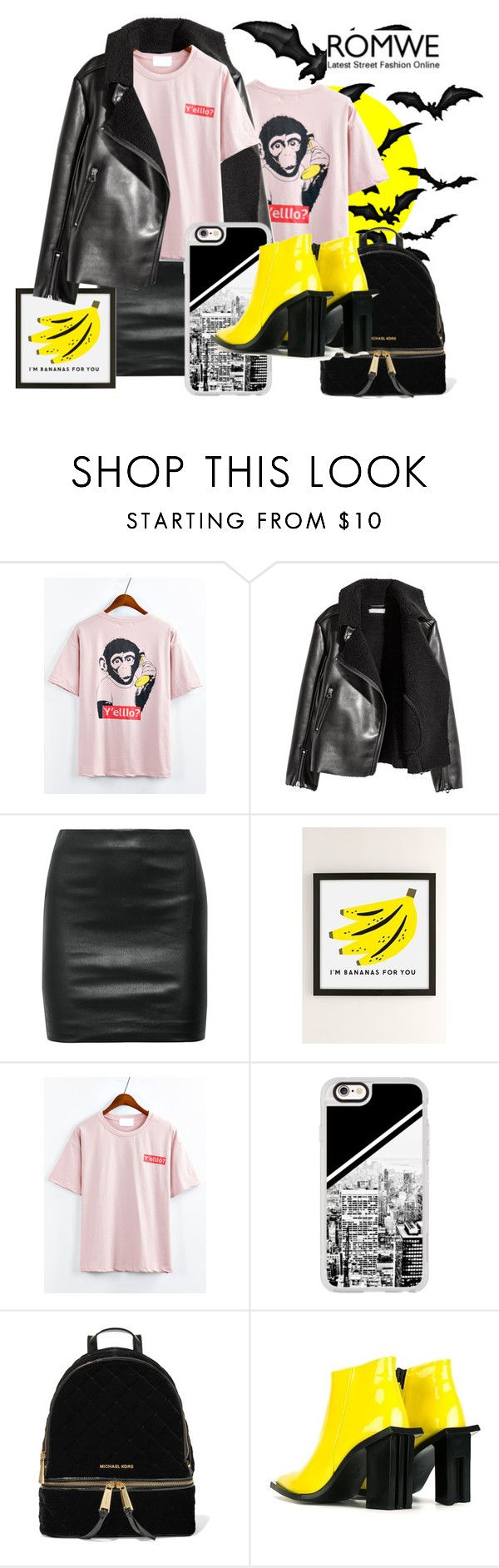 """""""I'm banana's for you"""" by sahrish-hossain ❤ liked on Polyvore featuring The Row, Urban Outfitters, Casetify, MICHAEL Michael Kors and Marques'Almeida"""