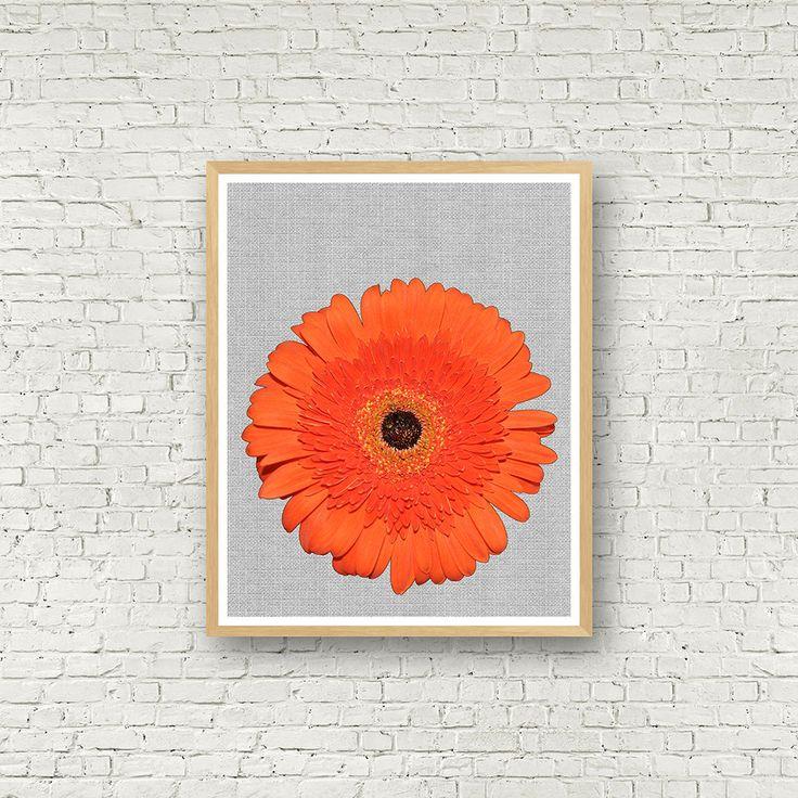 Wall art Flower Power, fleur orange, illustration fleur, Wall Art, couleur, Digital Art,Poster, photo design, photo fleur, affiche fleurs de la boutique MamzelleJules sur Etsy