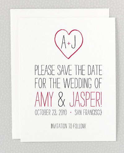 Big Day Digital Save the Date Card