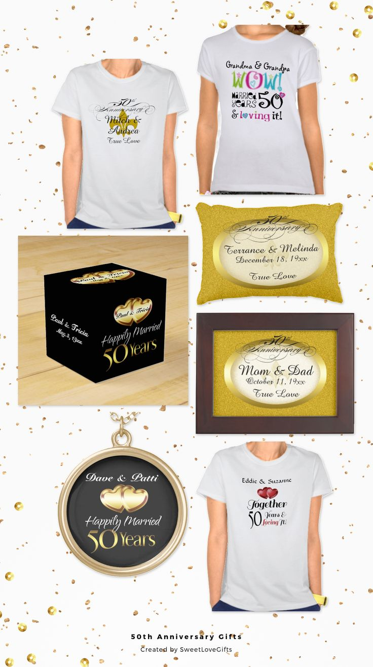collection of 50th wedding anniversary gifts for your wife, husband ...