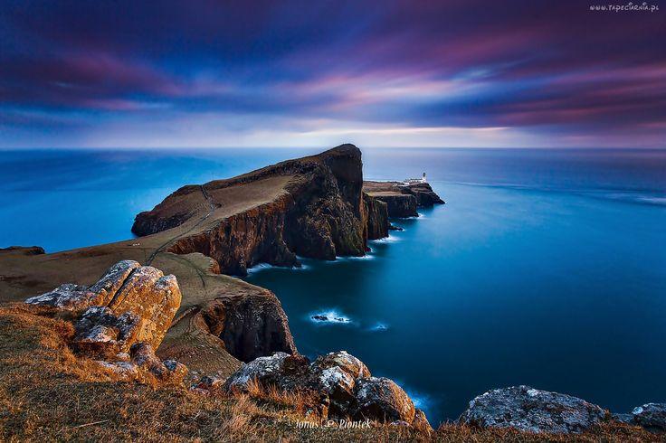 Szkocja, Archipelag, Morze, Skały, Latarnia Morska