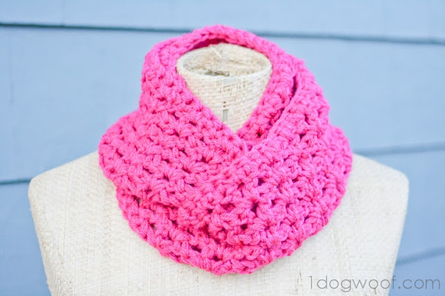 One Dog Woof: End of Winter Double Strand Infinity Cowl