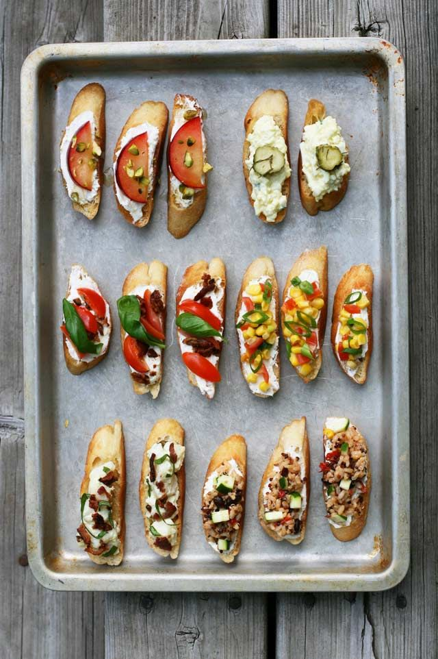 Entertaining on a budget: Use crostini. Instructions for making great crostini + topping ideas. Repin to save.